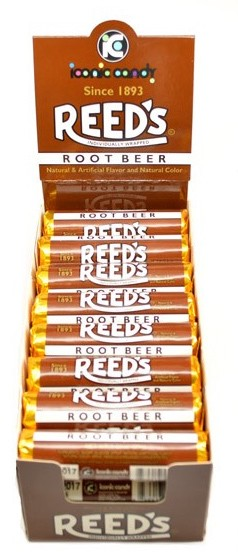 Reed's Root Beer Candy  (Pack of 24 Rolls)