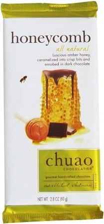 Chuao Honeycomb Dark Chocolate Bar 2.8 Ounce Bars, (Pack of 12)