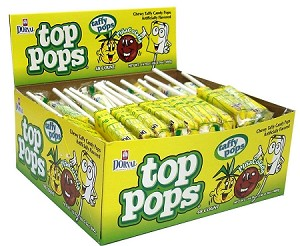 Top Pops Pina Colada Chewy Taffy Candy, (Pack of 48)