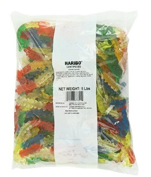 Haribo Gummy Centipedes, 5 Pound Bag